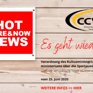 Hot News! – Zum Trainingsbetrieb
